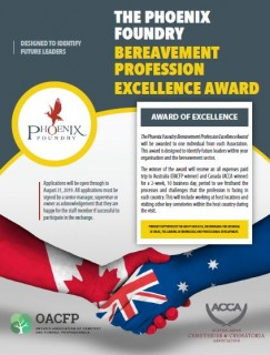 Phoenix Foundry Bereavement Professional Excellence Award 2019